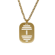 Load image into Gallery viewer, Hollow Barbell Military Plate Necklace