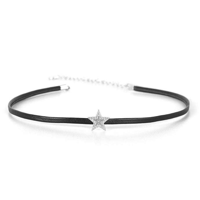 Star Choker w/ Leather Band