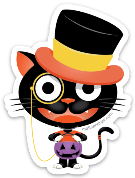 Top Hat Cat - Sticker