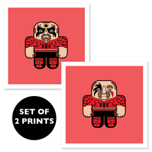 Load image into Gallery viewer, WRESTLING BUDDIES - 5x5 individual prints