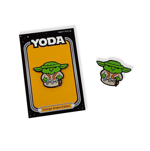 YODA Orange Snake Edition Pin and Backer