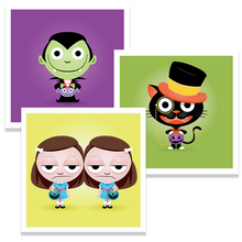 Load image into Gallery viewer, Trick Or Treaters - 5x5 Prints