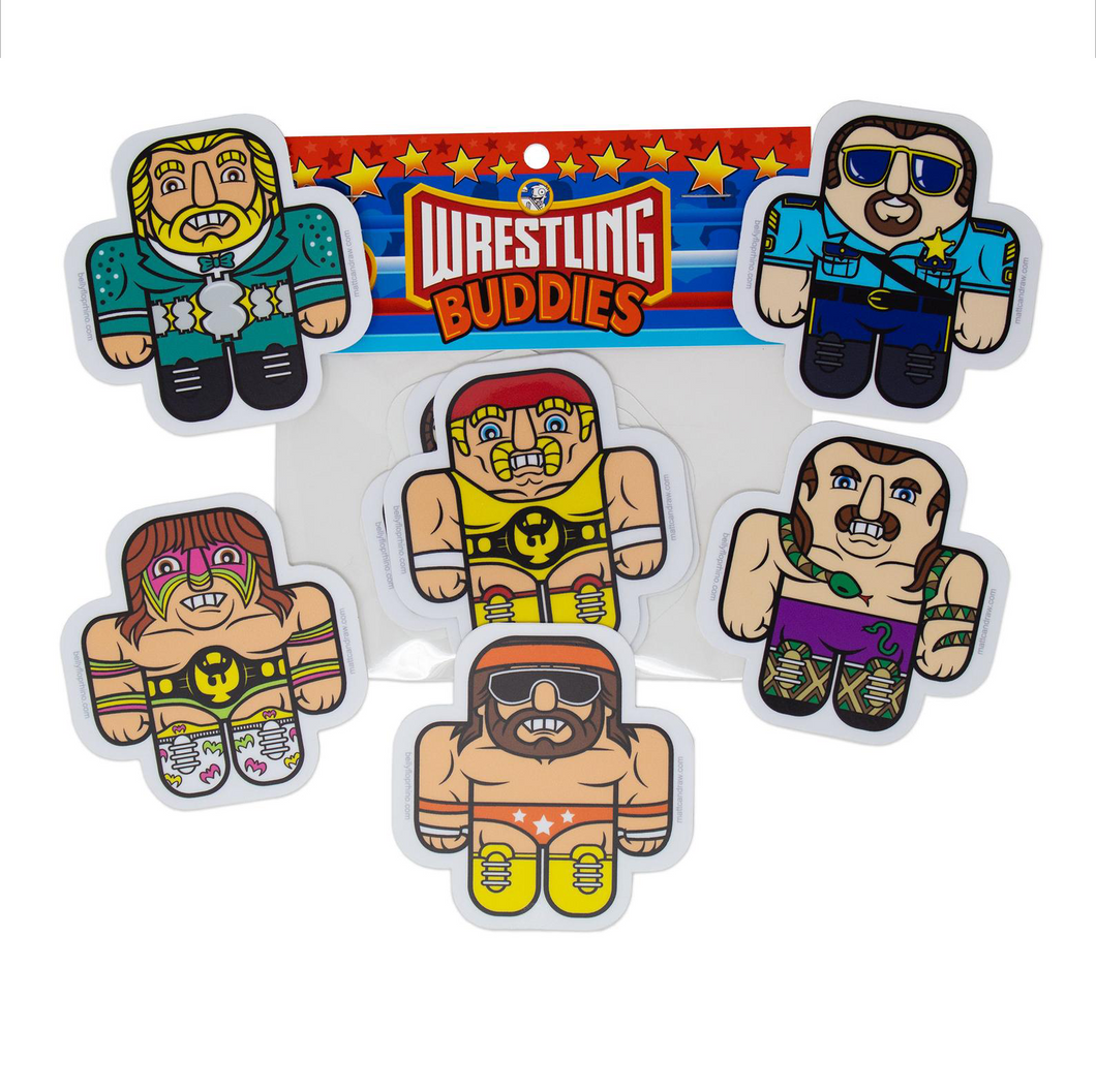 Wrestling Buddies Sticker 6 Pack