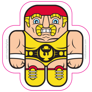 Wrestling Buds sticker 2 pack