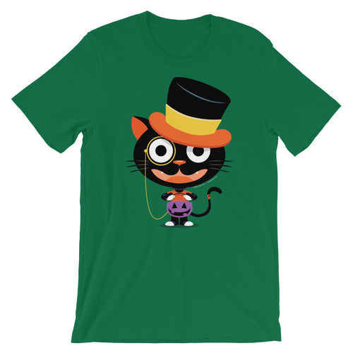 Lil Top Hat Black Cat Trick or Treat T-shirt