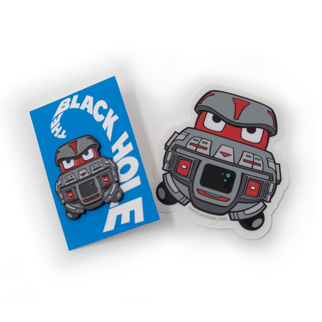 V.I.N.C.E.N.T. pin/sticker 2 Pack