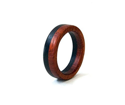 Dual Color Personalized Wooden Promise Ring