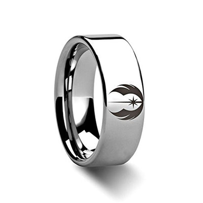 Tungsten Star Wars Jedi Order Ring