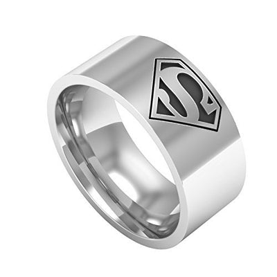 Engraved Superman Ring