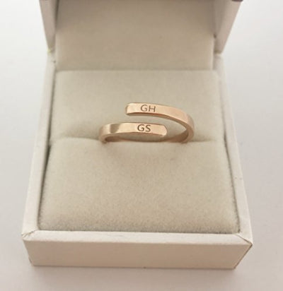 Personalized & Engraved Dainty Coordinate Ring - Sterling silver