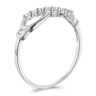 14k White Gold Infinity Promise Ring - GM Collection