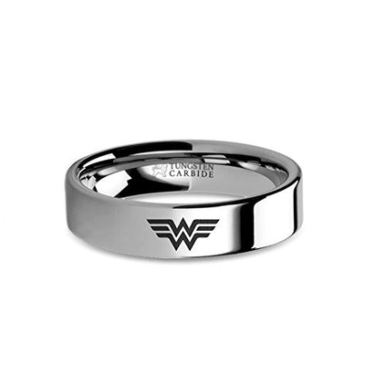 Tungsten Wonder Woman Ring - 6 mm