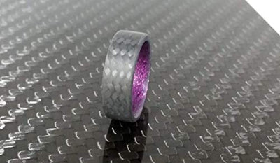 Men's Handcrafted Carbon Fiber Twill Promise Ring