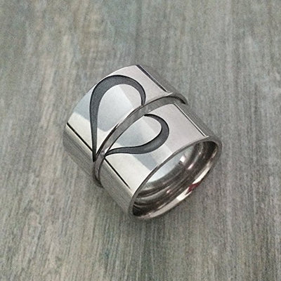 Promise Ring for Couples - Matching Heart Rings