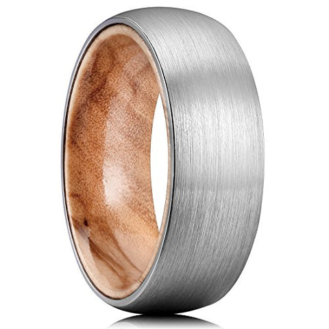 Combined wood with tungsten promise ring