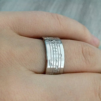 Customized Musical Note Ring