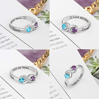 Love Jewelry Personalized & Engraved Infinity Promise Ring
