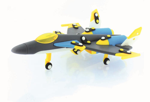 MIC-O-MIC. Fighter plane (grey) 3D Construction Kit