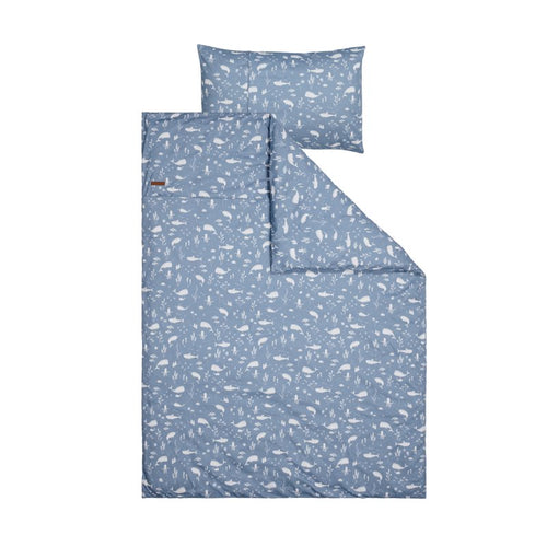 LITTLE DUTCH. Cot duvet cover Junior Ocean Blue 120x150