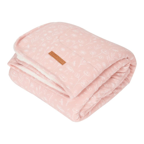 LITTLE DUTCH. Cot blanket Wild Flowers Pink 110 x 140