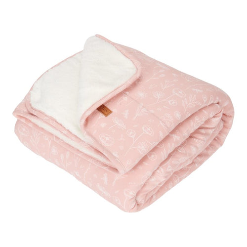 LITTLE DUTCH. Bassinet blanket Wild Flowers Pink 70 x 100