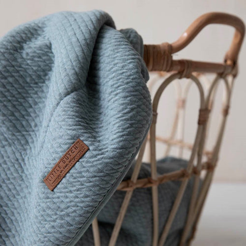 LITTLE DUTCH. Bassinet blanket Pure Mint 70 x 100