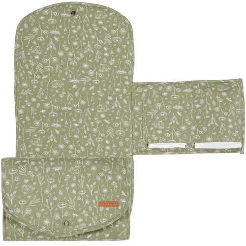 LITTLE DUTCH. Changing pad comfort Wild Flowers Olive 70 x 36