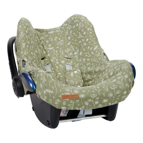 LITTLE DUTCH. Car seat 0+ cover Wild Flowers Olive