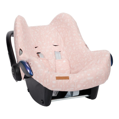 LITTLE DUTCH. Car seat 0+ cover Wild Flowers Pink