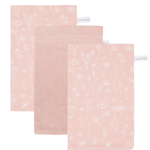 LITTLE DUTCH. Washcloths set Wild Flowers Pink