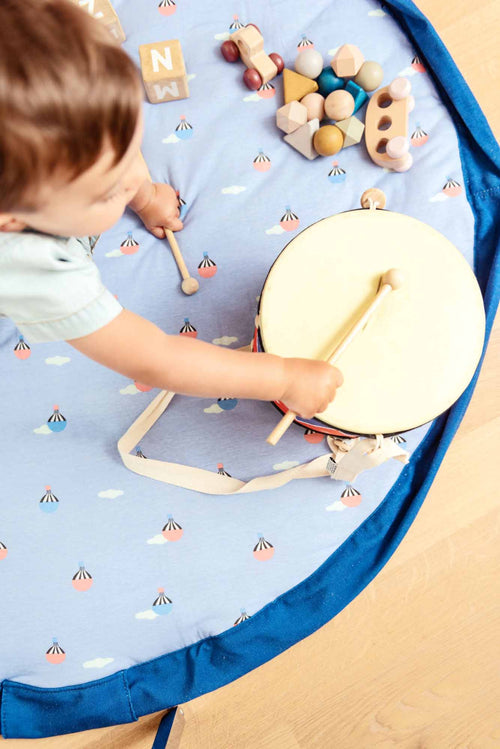 PLAY&GO. Soft. 2-in-1 baby play mat / toy storage bag. Air Balloon