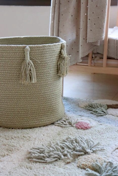 Lorena Canals. Basket Woody Olive 30x30