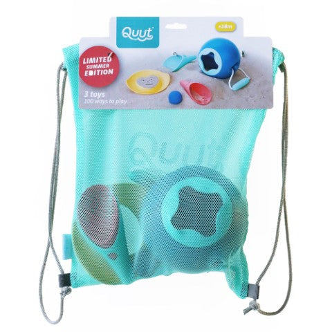 Quut. Beach Set Ballo (3pcs - Mini Ballo, Cuppi and one Magic Sand Shaper)
