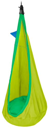 LA SIESTA. Organic Cotton Kids Hanging Nest with Suspension - Joki Froggy