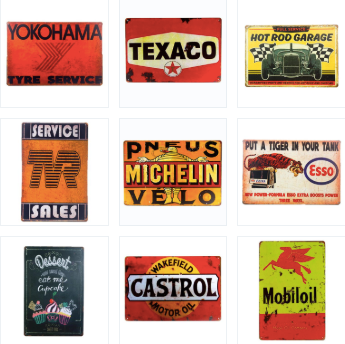 Garage Gas Company Metal Signs (Many Styles)