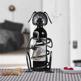 Dog Playing Instrument Wine Rack