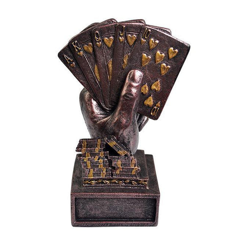 Metal Poker Card Tournament Winner Trophy