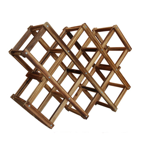 Wooden Wine Rack 10 Bottle Holder