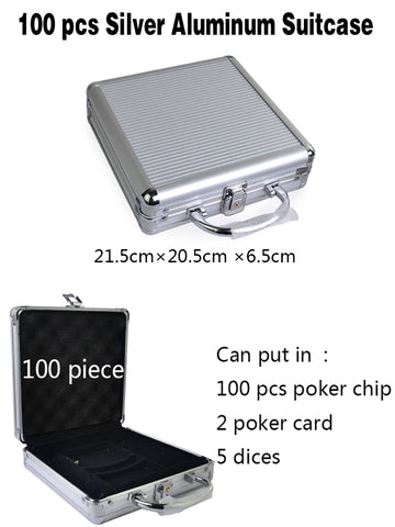 100-500 Poker Chip Suitcase