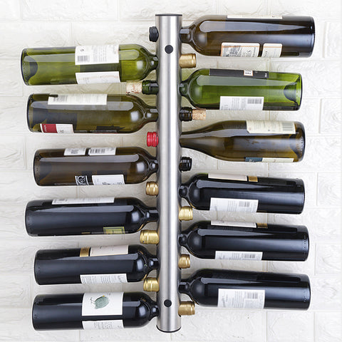 Stainless Steel Wall Mount Bottle Rack