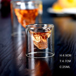 Double-Wall Insulated Skull Shot Glasses (Sets of 1, 2, & 4)