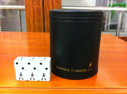 Whisky Johnnie Walker Leather Shake Cup with 6 Dice