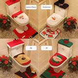 Christmas Toilet Decoration Set
