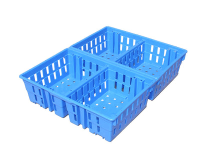4 Compartment Chick Crate (Stackable & Nestable)