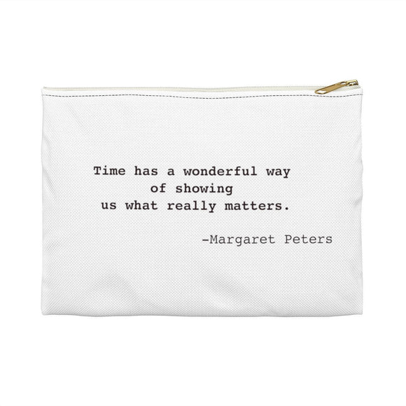 Margaret Peters Inspirational Quote Widow Strong Pouch