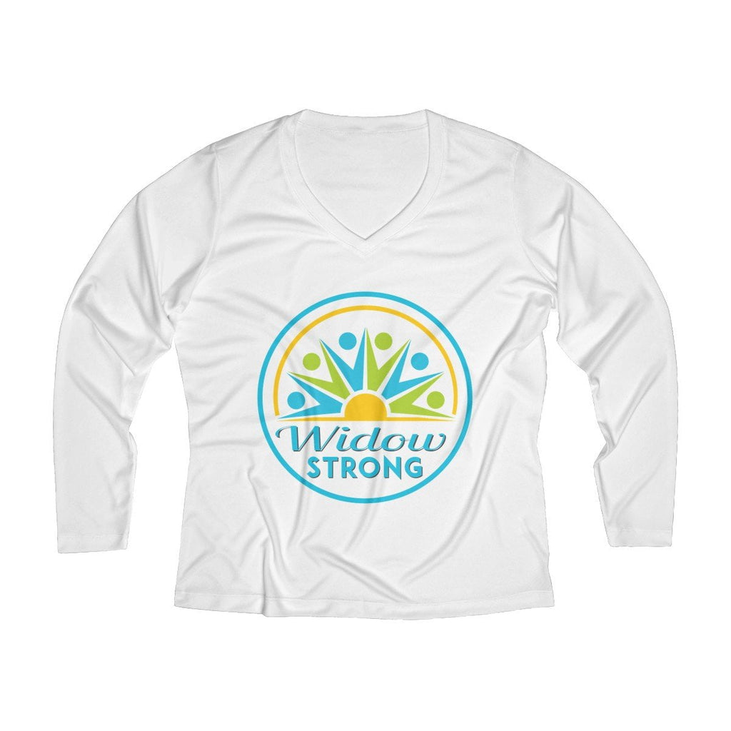 Widow Strong Women's Long Sleeve Performance V-neck Tee