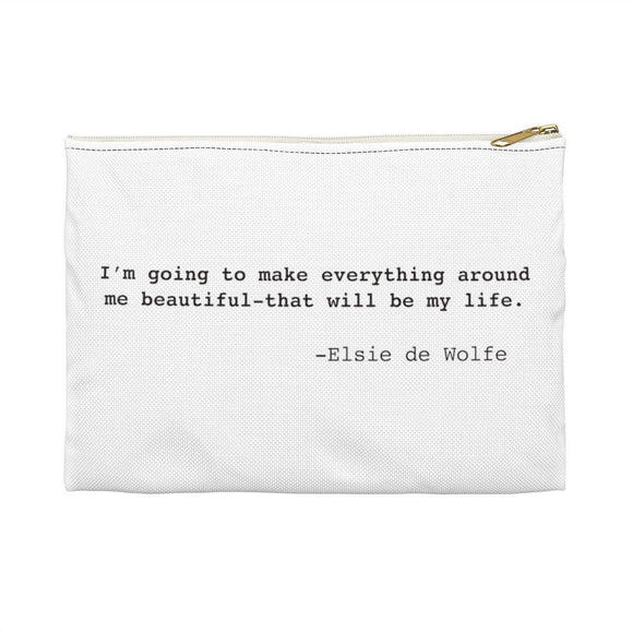 Elsie de Wolfe Inspirational Quote Widow Strong Pouch