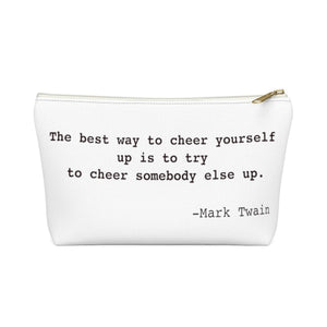 Mark Twain Inspirational Quote 180 Your Life Accessory Pouch w T-bottom