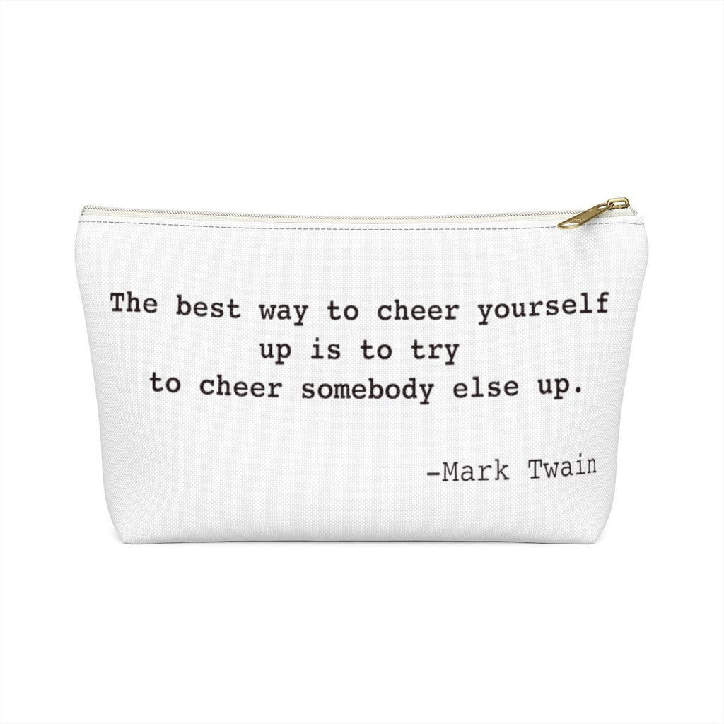 Mark Twain Inspirational Quote Widow Strong Accessory Pouch w T-bottom