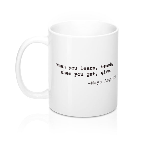 Maya Angelou Inspirational Quote Widow Strong Mug 11oz